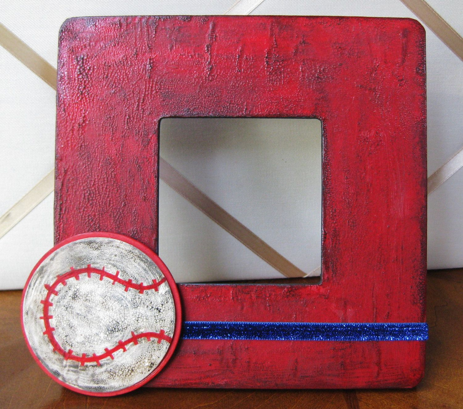 MADE TO ORDER Decoupaged Wood Picture Frame with rustic Distressed ...
