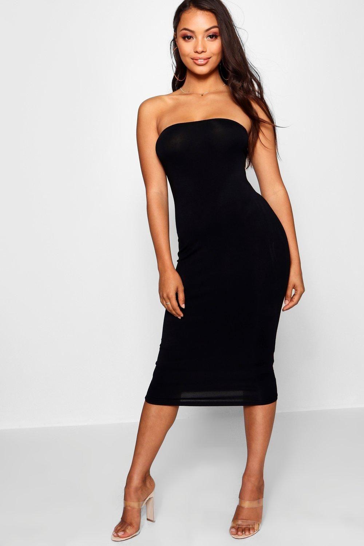 dc2241020cc7 7/12/18 Brand/Designer: Boohoo Dress Silhouette: Bodycon Neckline: Bandeau  Neck Size Category: Petite