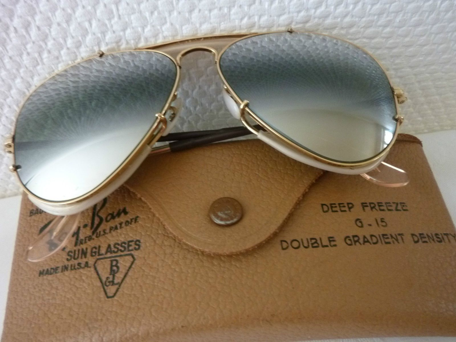 Ray ban sunglasses new design - Ray Ban Sunglasses Men S Preowned Vintage 1950 Deep Freeze Double Gradient Density Bausch