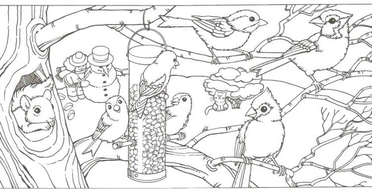 Winter Animal Coloring Pages In 2019 Animal Coloring Pages