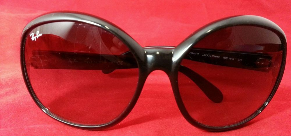 Ray-Ban Jackie Ohh III Sunglasses Black Pre-Owned RB4113  RayBan   JackieOhhIII d2fef04955