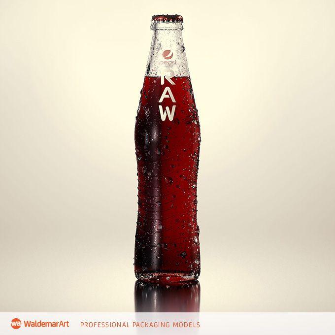 PEPSI RAW – 3D model of the bottle