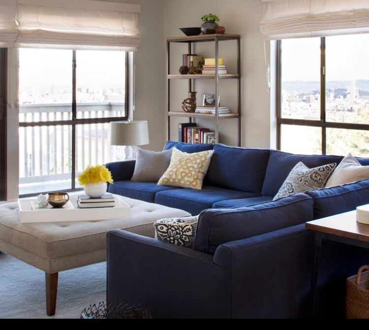 Pin By Beth On Classy Living Room Blue Sofa Living Blue Sofas Living Room Blue Couch Living Room