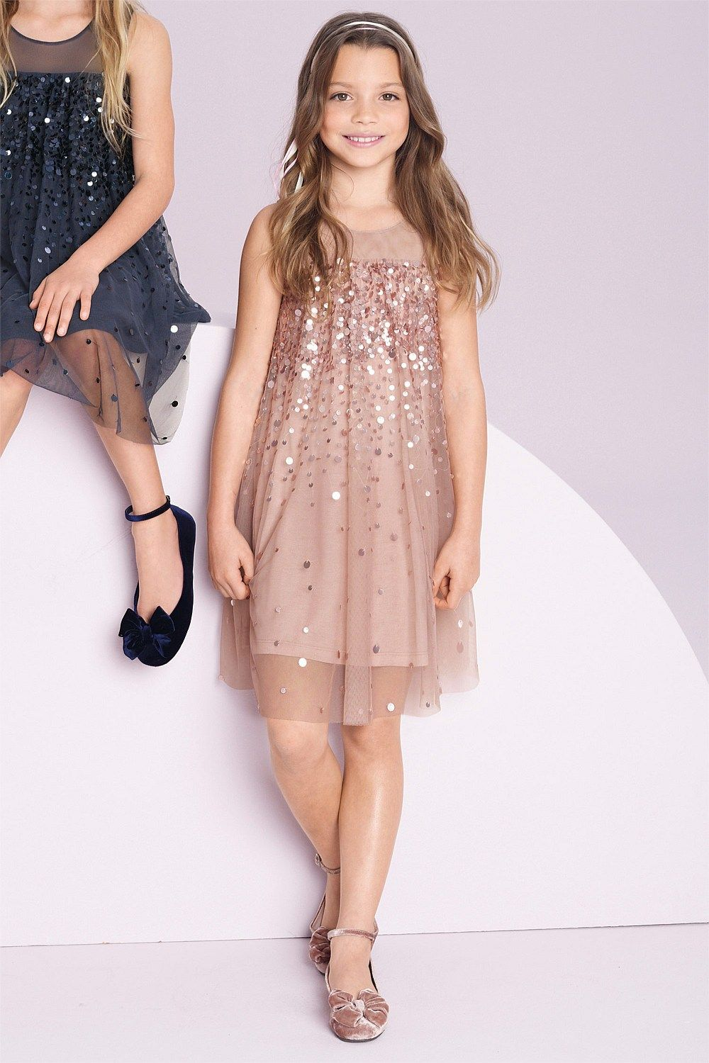 Girls Tops Online - 3 to 16 years - Next Sequin Tunic - EziBuy New ...