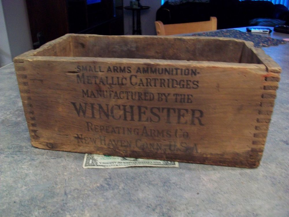 Antique Winchester Ammo Box.Wood.ORIGINAL LOGO.100 years old.Rifle. & 16 best ammo boxes images on Pinterest   Ammo boxes Furniture and ... Aboutintivar.Com