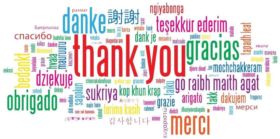 thank you in different languages clipart thank you in different rh pinterest com Thank You Clip Art thank you in many languages free clipart