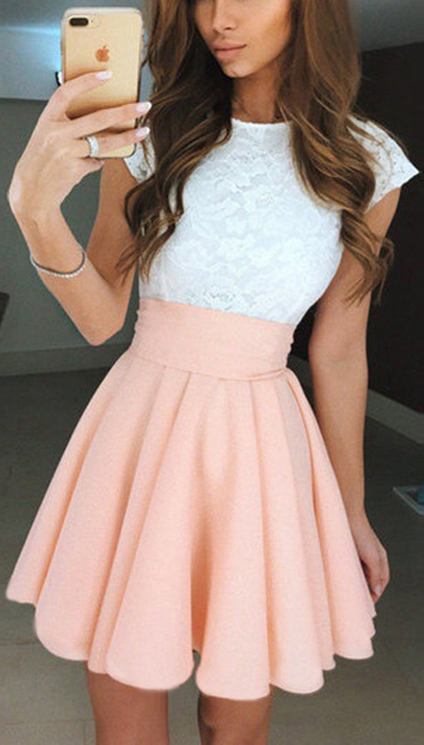 Cute Casual Summer Outfit Ideas for Teens - Pretty Lace Skater ...