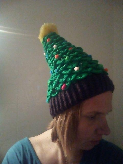 Christmas Tree Hat pattern by Bianca Schepel   Christmas tree hat, Crochet christmas hats ...