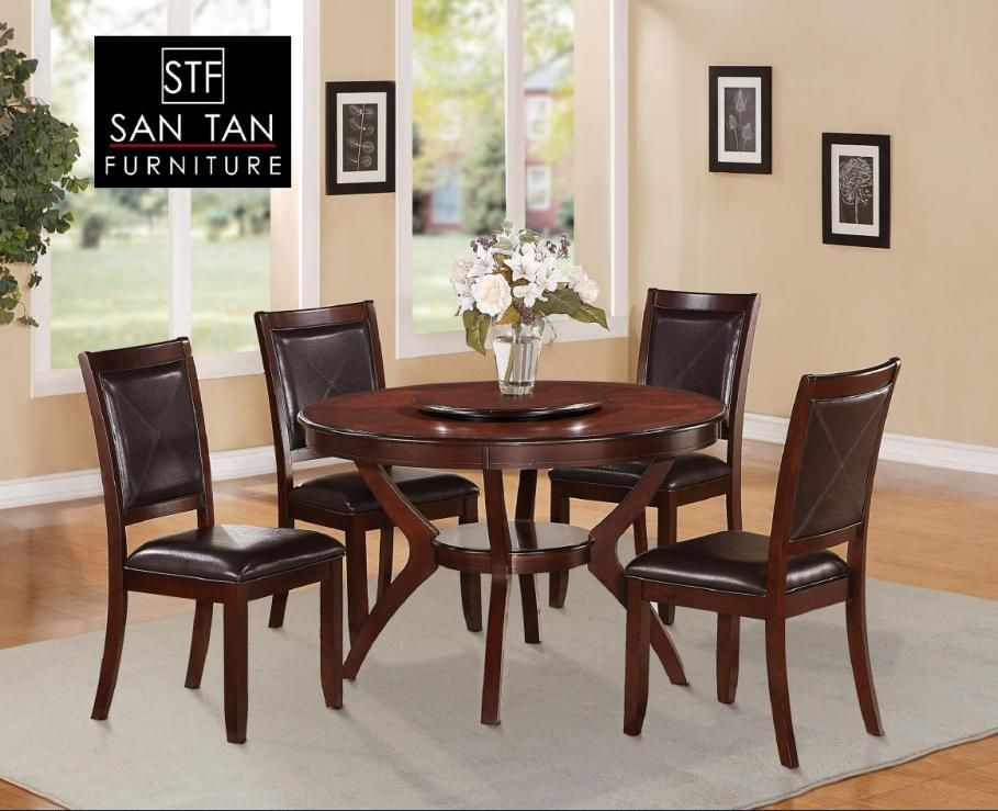Dining Room Furniture San Diego Cherry Round Regular Height Dining Table San Tan Furniture $599