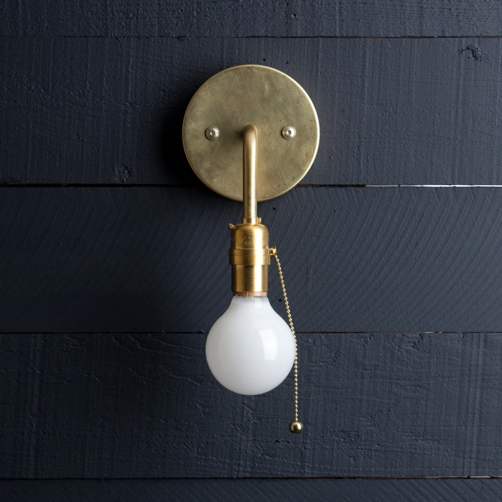 Brass Wall Sconce Pull Chain In 2020 Pull Chain Light Fixture Sconces Wall Sconces