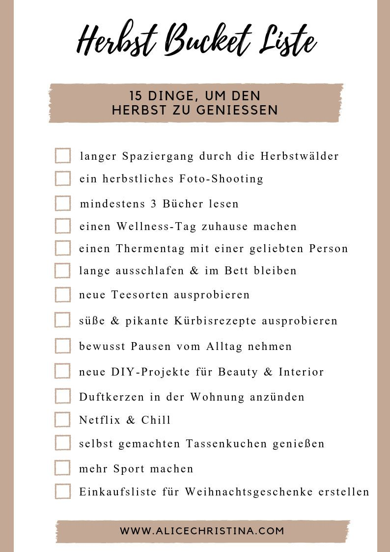 Photo of Autumn bucket list: 15 things to enjoy autumn, including freebie for download Alice Christina | Fashion and lifestyle blog from Austria
