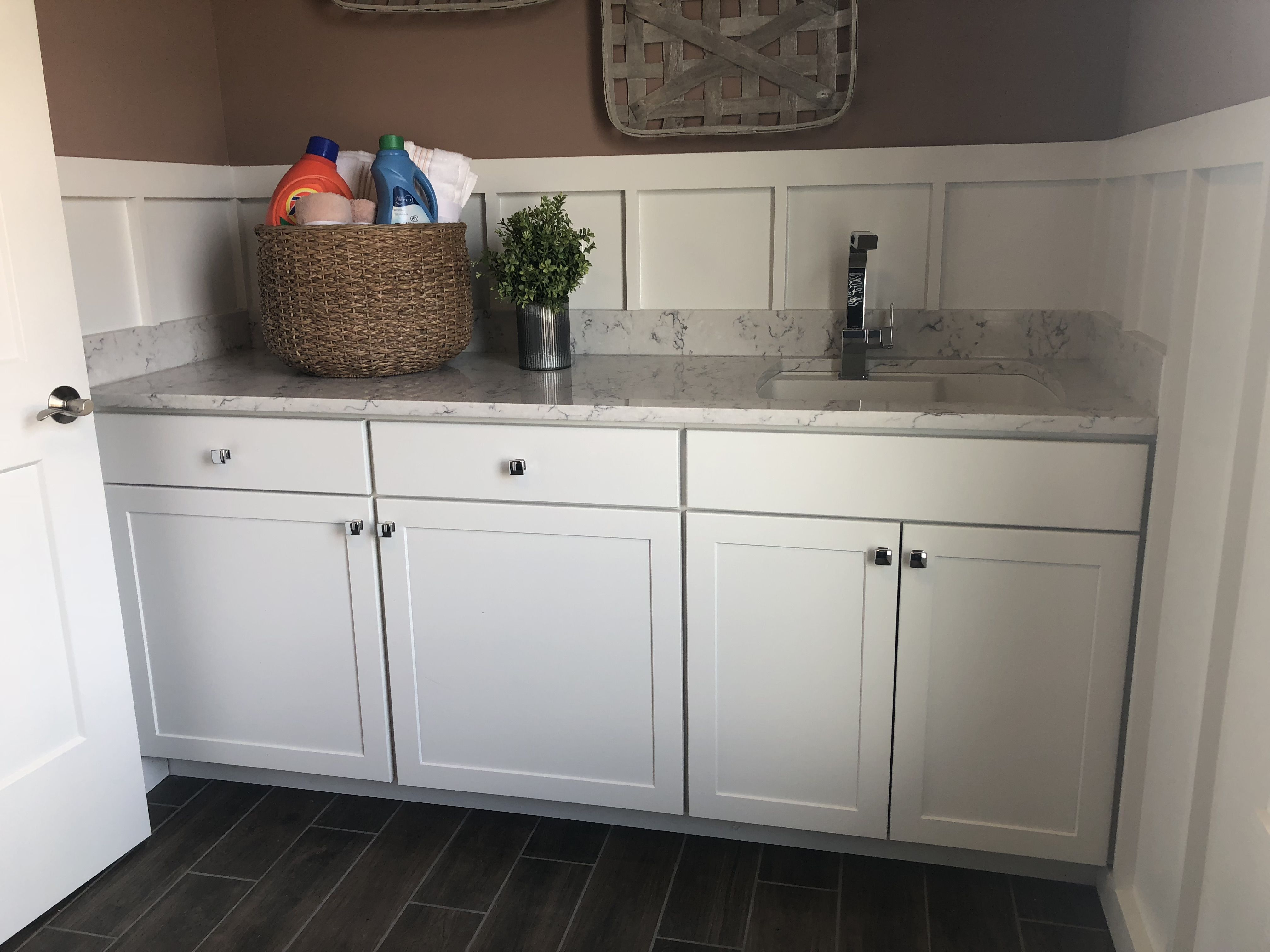 Winstead White Laundry Sink Base Cabinets Room
