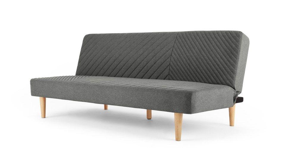 Ryson Click Clack Sofa Bed Marl Grey Retro Sofa Bed Sofa Bed Sofa