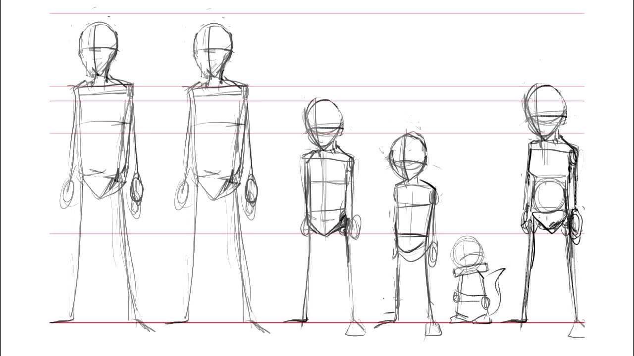 Drawing Manga Tutorial Lesson 1 Basic Skeletal Structure Manga Drawing Tutorials Anime Drawings Sketches Tutorial