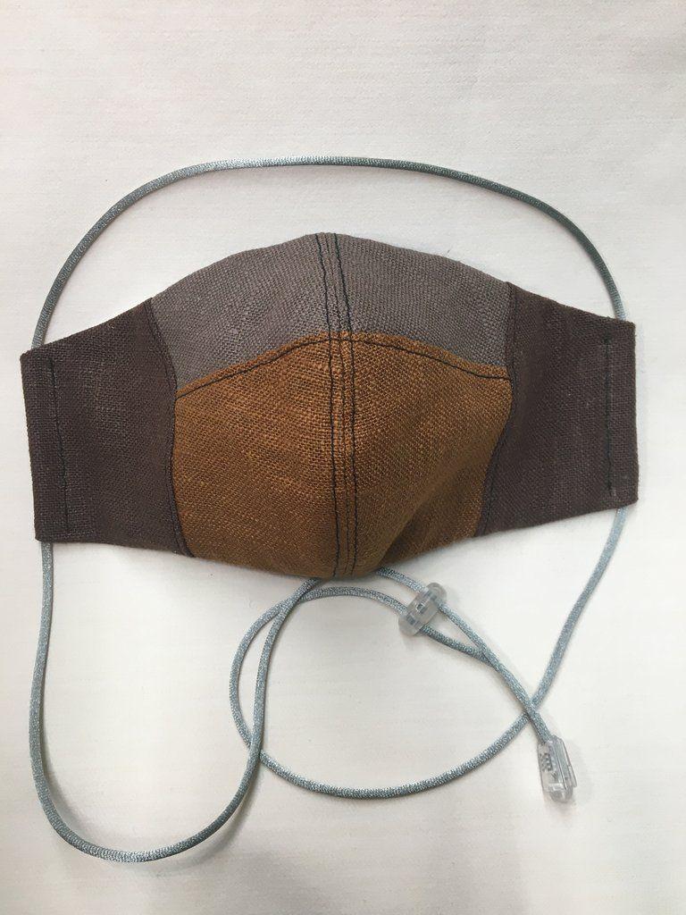 Unisex linen face mask in 2020 Face mask, Burlap bag, Mask