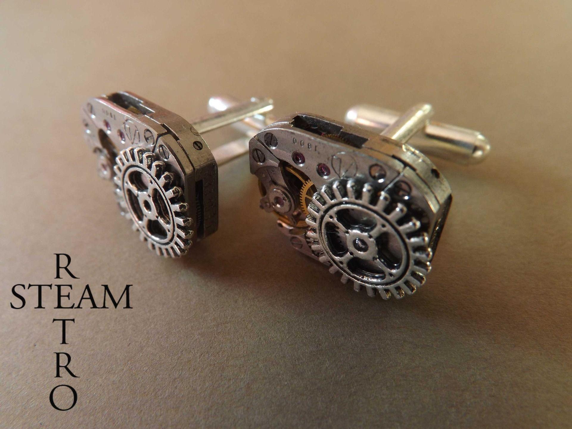 bouton de manchette steampunk
