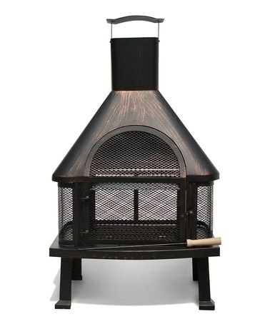 Take A Look At This Bronze Tall Fire Pit Set By Sirio On Zulily Today Fire Pit Sets Outdoor Fire Pit Wood Burning Fire Pit