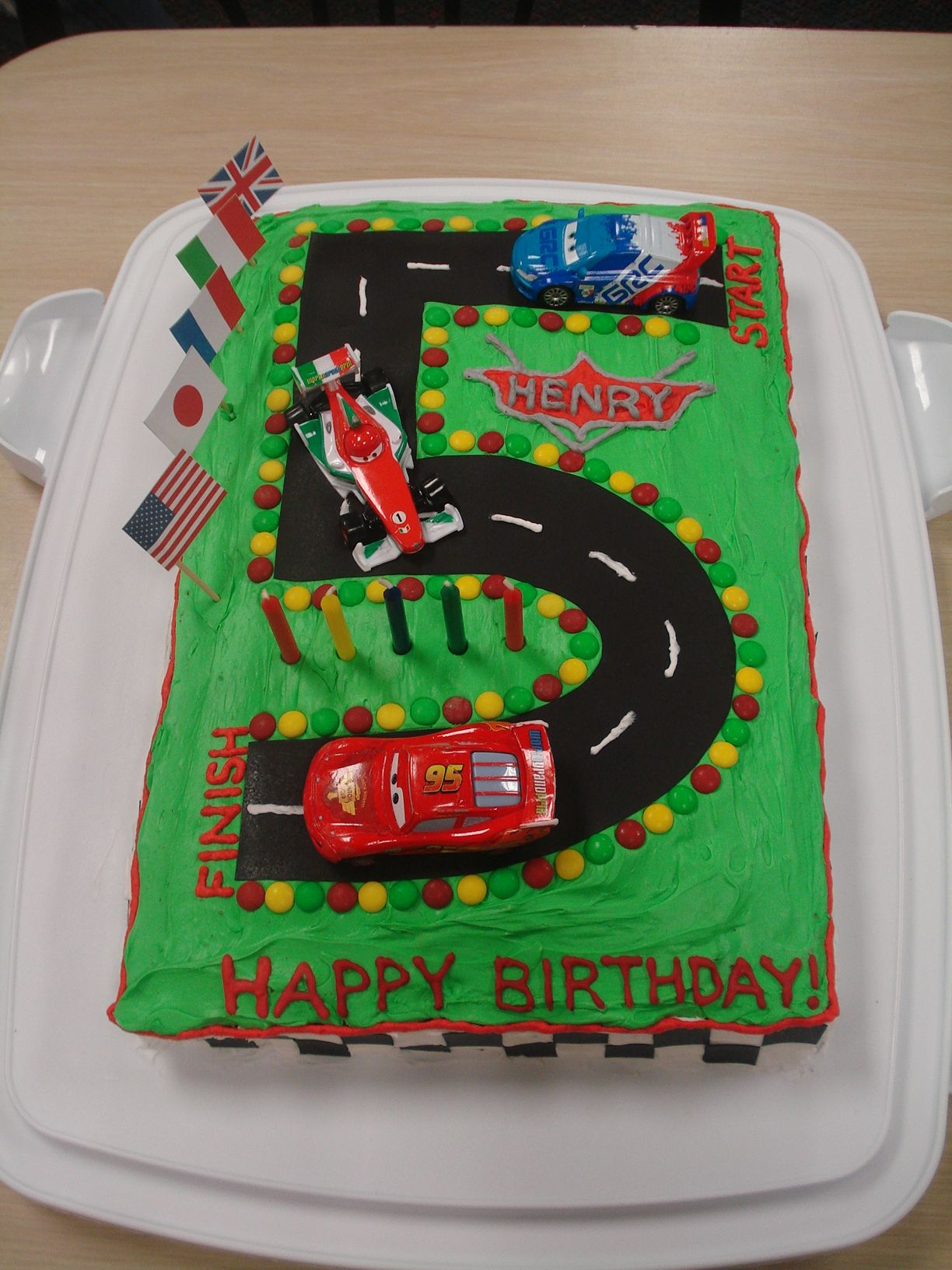 Cars 2 cake for Henry's 5th birthday (With images) Party