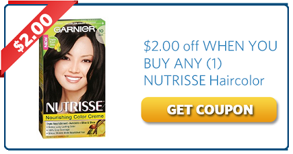 Garnier Nutrisse Haircolor Coupon Off $2.00 | Coupons | Pinterest