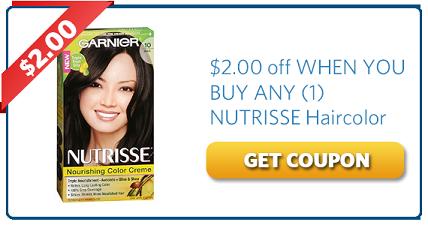 Garnier Nutrisse Haircolor Coupon Off $2.00   Coupons   Pinterest