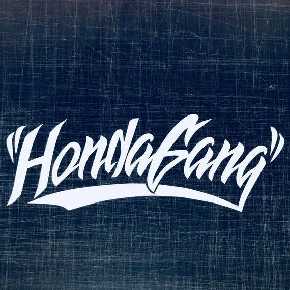 Honda Gang Decal Transfer Sticker No Background 15 Day