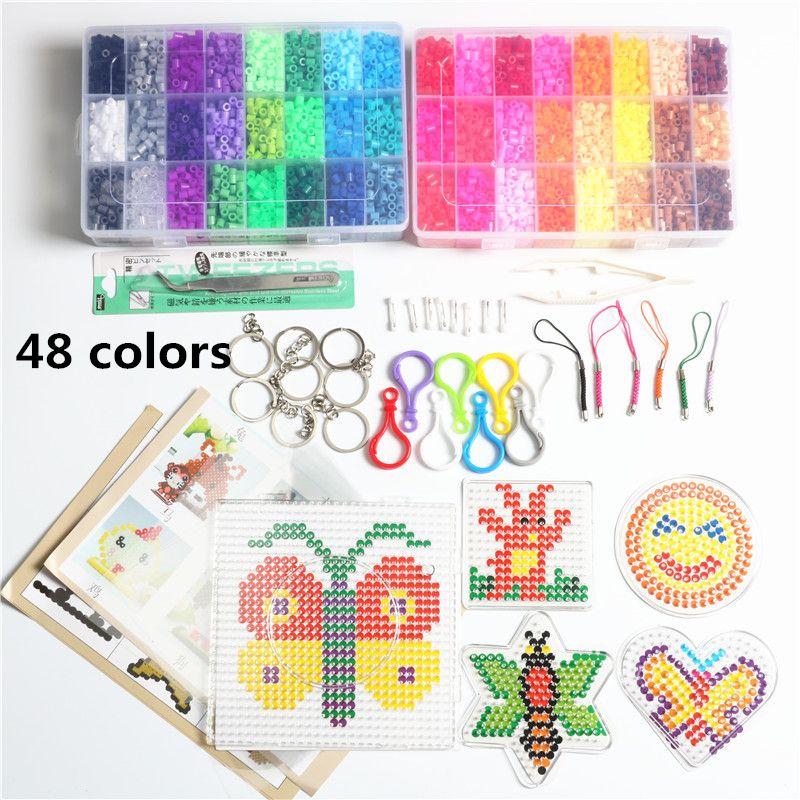 5mm Hama Beads Pegboard Toy DIY Beads tool Educational Tangram Jigsaw KIDS Child