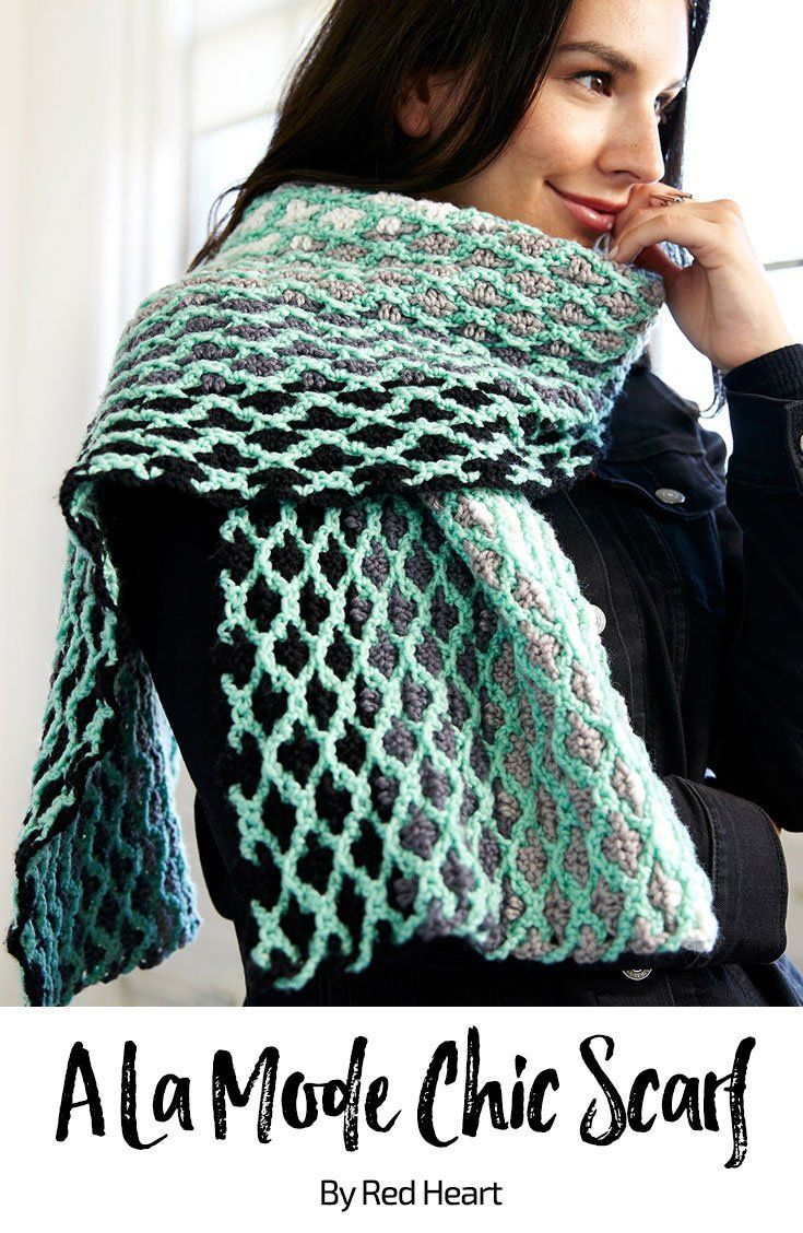 A La Mode Chic Scarf free crochet pattern in Chic Sheep Merino Wool ...
