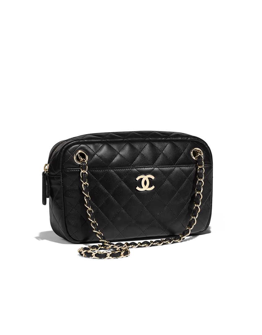 f3519a5feb1c Camera case, lambskin & gold-tone metal-black - CHANEL | The Beauty ...