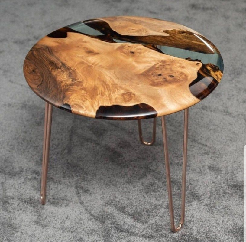 Side / end epoxy coffee table –