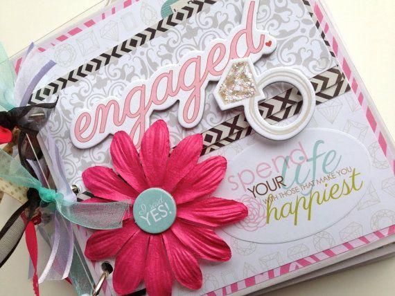 Engagement Scrapbook Kit Mini Album Pre Cut Do It Yourself