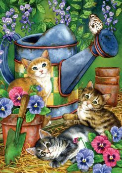 Kitties In The Pansies (280 pieces)