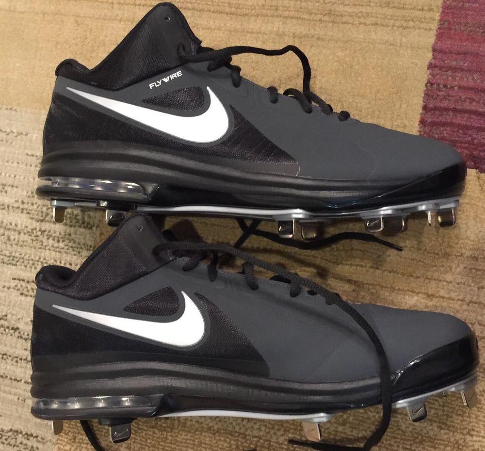 $110 Nike Air Max MVP Elite Metal Baseball Softball Cleats Black 12 Free  Ship⚾️