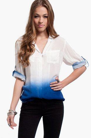 Painters Button Up Blouse $35 at www.tobi.com Super cool blouse.
