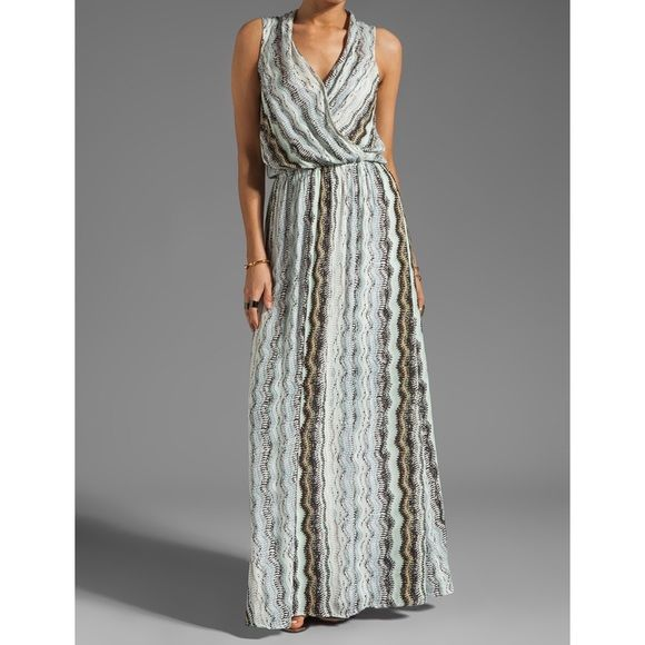 Ella Moss Zuma Print Maxi Dress in Neutral Ella Moss Zuma Print Maxi Dress in Neutral. Beautiful silhouette. Fun print. This dress is amazing and feels even better on!  Eye-catching and dramatic, the Ella Moss Zuma maxi dress will turn heads day or night. Printed jersey. Surplice front and back. Sleeveless; wide shoulder coverage. Elastic waistband creates blouson top. Sweeping A-line skirt. Rayon. Made in USA. Ella Moss Dresses Maxi