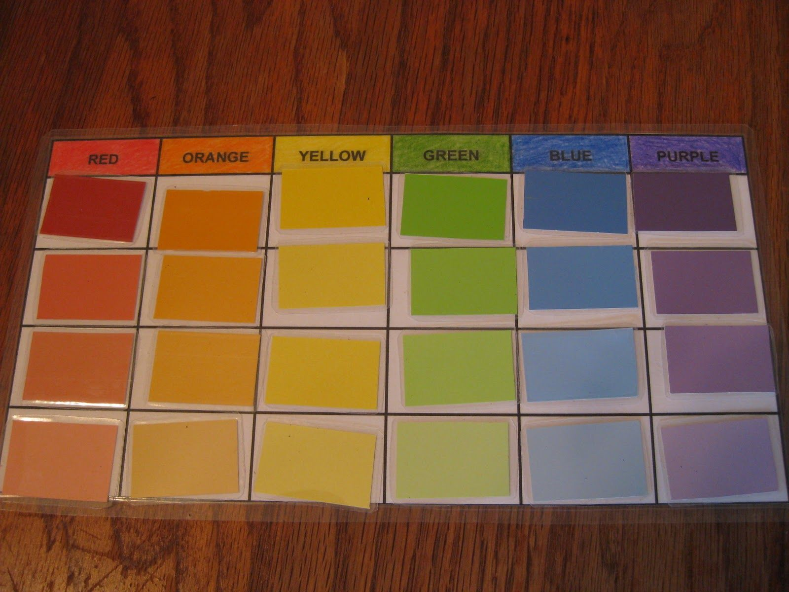Lilliput Station: Color Sorting With Paint Sample Cards {free printable}