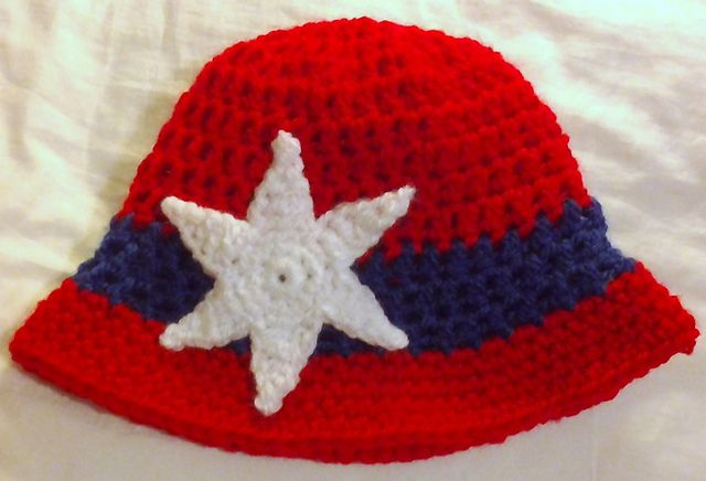 e1fd6bf4979 Ravelry  Patriotic Cloche Sunhat pattern by ag handmades