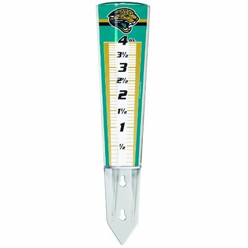 NFL Jacksonville Jaguars Rain Gauge by WinCraft. $4.99. Insert into the ground or mount on a fence, deck or building. Heavy duty durable acrylic. Magnifies numbers by 35%. Perfect for the #1 fan. Made in USA. NFL Jacksonville Jaguars Rain Gauge
