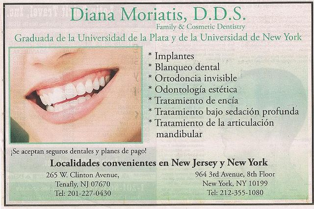 Argentina/NY - dentist adverstisement | Spanish teacher stuff