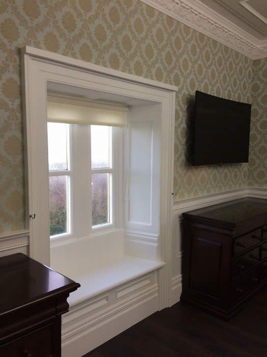Pleasing Panelled Window Seat In 2019 Window Reveal Georgian Machost Co Dining Chair Design Ideas Machostcouk