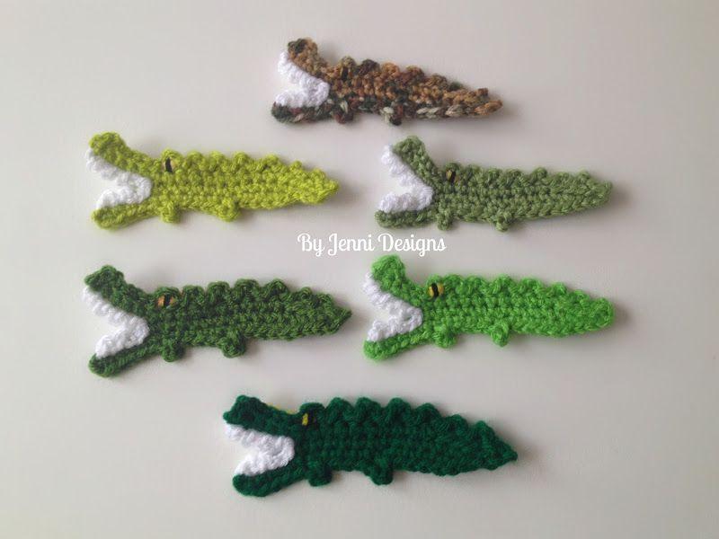 Free Crochet Pattern Tutorial Alligator Applique Crochet
