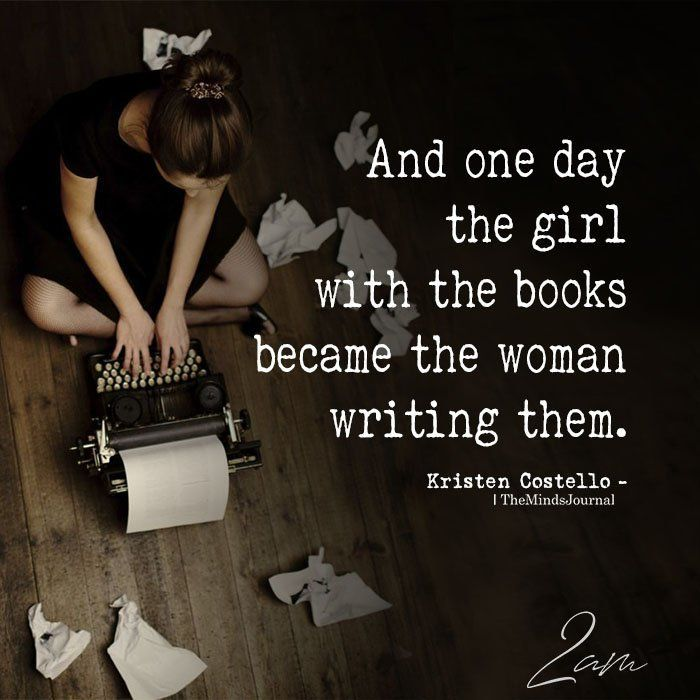 And One Day The Girl With The Books