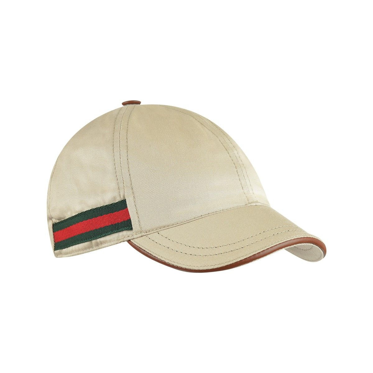 1900b15ee99 GUCCI Boys Beige Cap With Signature Stripe