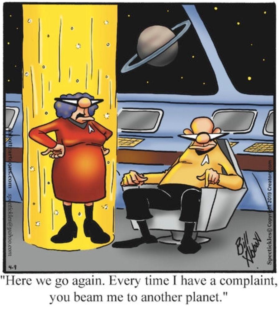 Conflict Resolution Trek Today S Spectickles Cartoon A Day On Gocomics Https Www Gocomics Com Spectickles Funny Cartoon Pictures Fun Comics Funny Cartoons