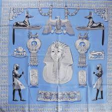 Risultati immagini per hermes tutankhamun silk scarf