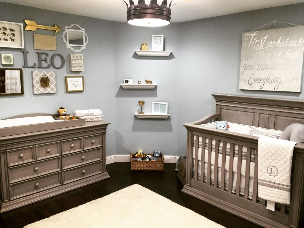 Baby Boy Room Colors Classic Serene Nursery Fit for a King - love this royal-inspired baby boy  nursery!