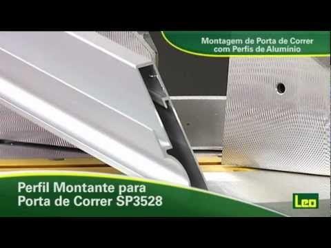 Montagem De Portas De Correr Com Perfis De Alumínio Youtube Perfil De Aluminio Portas De Correr Curso Marcenaria