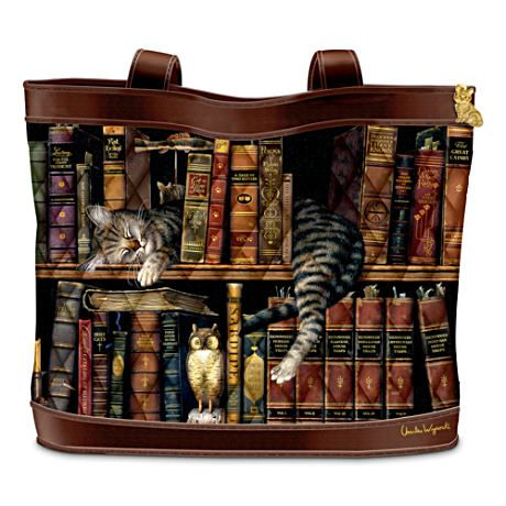d10545bf0d Charles Wysocki Cat Art Tote Bag: Frederick the Literate; love this ...