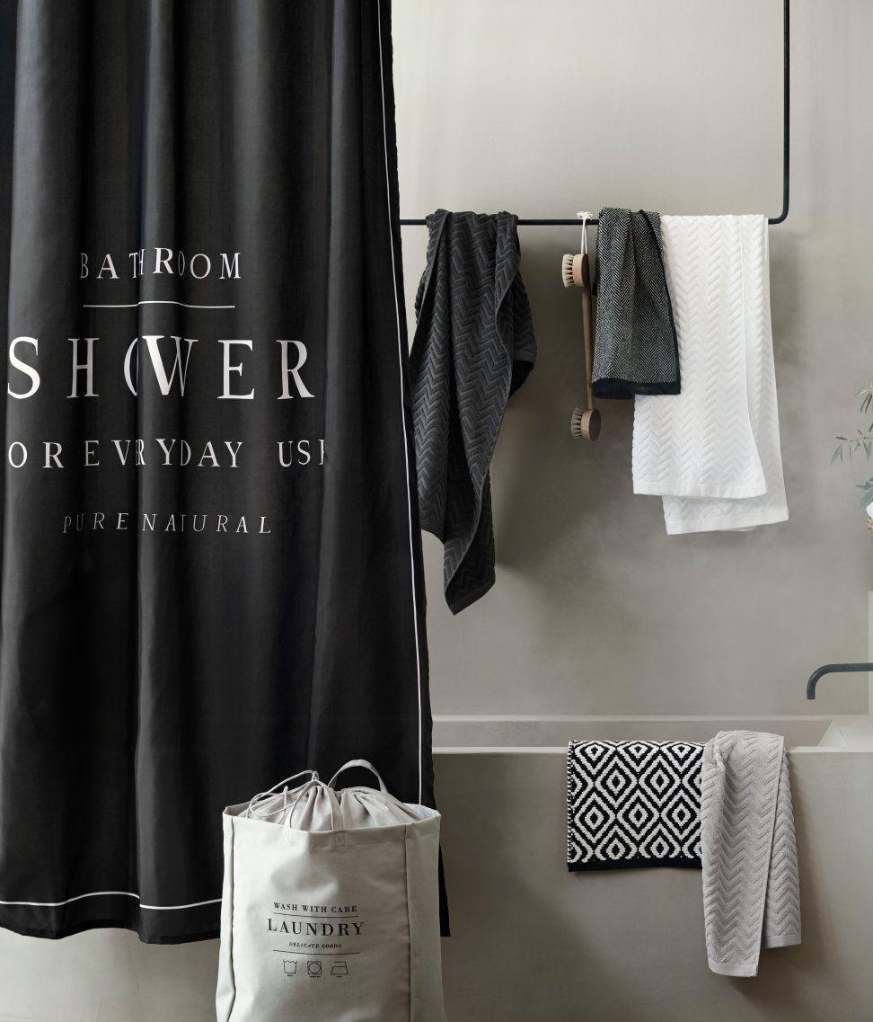 Schwarz Duschvorhang Aus Wasserabweisendem Polyester Mit Textdruck Metallosen Zum Aufhangen Di Lustige Duschvorhange Aufbewahrungskorbe Badewanne Mit Dusche