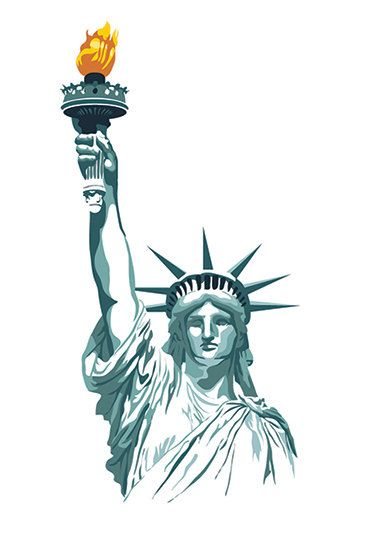 Statue of liberty print brothers pannell art work for Statue of liberty drawing template