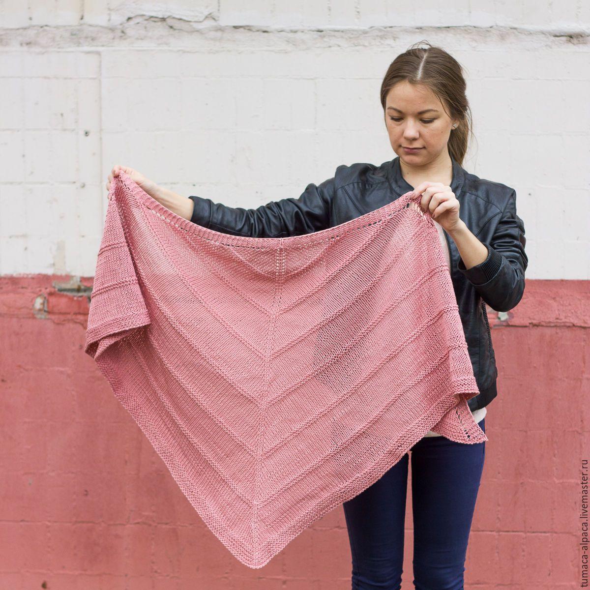 схема вязания шарфа спицами крупной вязкой